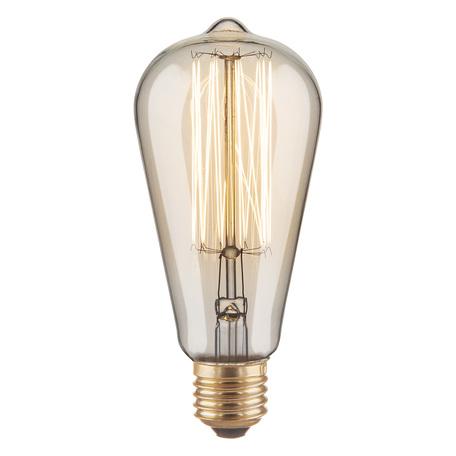 Лампа накаливания Elektrostandard ST64 60W E27 60W, 2000K (теплый)