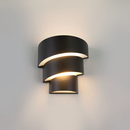 Настенный светодиодный светильник Elektrostandard 1535 TECHNO LED HELIX черный, IP54, LED 15W 3000K 500lm, черный, металл