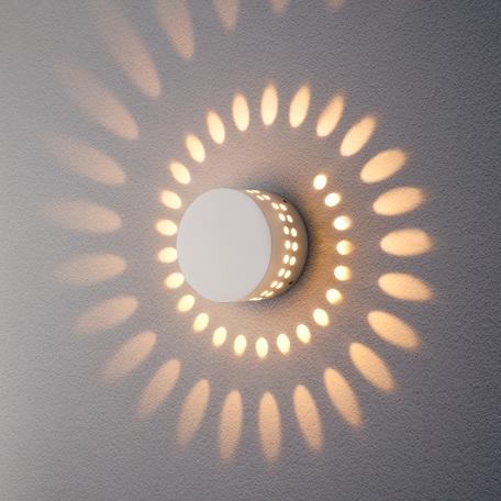 Настенный светодиодный светильник Elektrostandard 1585 TECHNO LED ARKADA белый, IP54, LED 4W 3000K 270lm, белый, металл