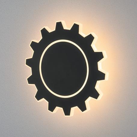 Настенный светодиодный светильник Elektrostandard Gear L LED черный (MRL LED 1100), LED 8W 4000K 500lm, черный, металл