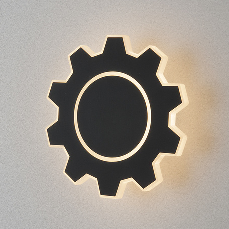 Настенный светодиодный светильник Elektrostandard Gear M LED черный (MRL LED 1095), LED 5W 4000K 300lm, черный, металл