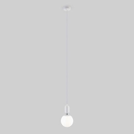 Подвесной светильник Eurosvet Bubble Long 50158/1 белый, 1xE27x60W, белый, металл, стекло