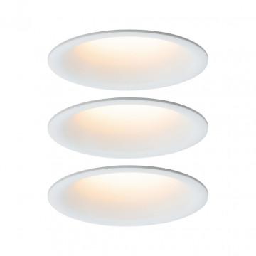 Встраиваемый светодиодный светильник Paulmann Cymbal 93419, IP44, LED 6,5W, белый, пластик