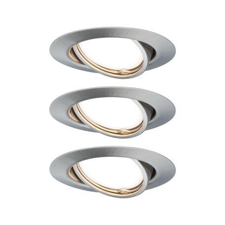 Встраиваемый светильник Paulmann Base LED GU10 step-dim 230V 93424, 1xGU10x5W, алюминий, металл