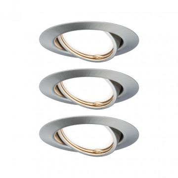 Встраиваемый светодиодный светильник Paulmann Base LED Coin 230V 93425, LED 5W, алюминий, металл