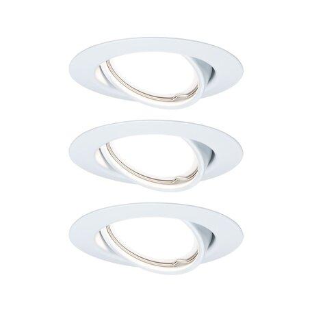 Встраиваемый светодиодный светильник Paulmann Base LED Coin 230V 93427, LED 5W, белый, металл