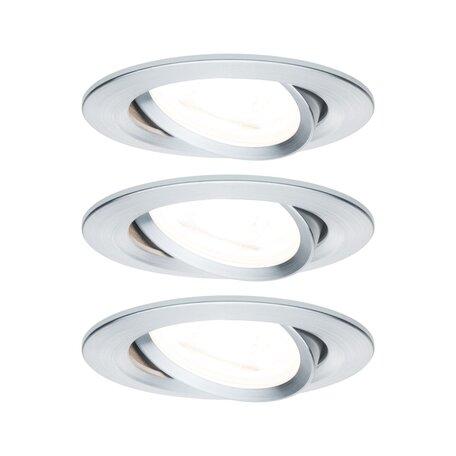 Встраиваемый светильник Paulmann Nova LED GU10 230V 93433, IP23, 1xGU10x6,5W, алюминий, металл
