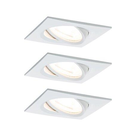 Встраиваемый светильник Paulmann Nova LED GU10 230V 93436, IP23, 1xGU10x6,5W, белый, металл