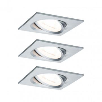 Встраиваемый светильник Paulmann Nova LED GU10 230V 93438, IP23, 1xGU10x6,5W, алюминий, металл