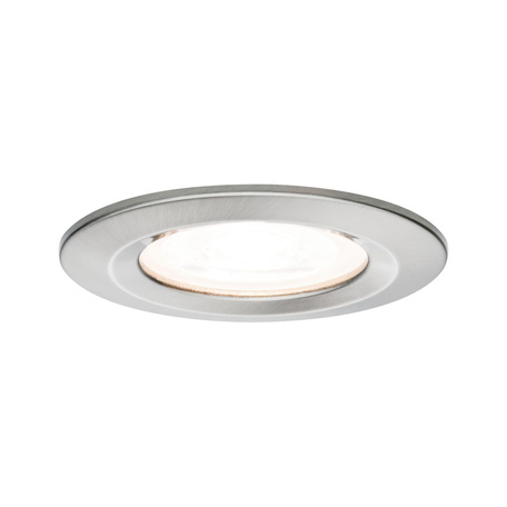Встраиваемый светильник Paulmann Nova LED GU10 230V 93439, IP44, 1xGU10x6,5W, матовый хром, металл
