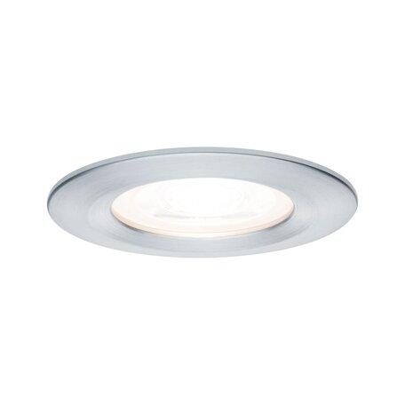 Встраиваемый светильник Paulmann Nova LED GU10 230V 93443, IP44, 1xGU10x6,5W, алюминий, металл
