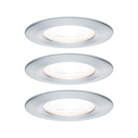 Встраиваемый светильник Paulmann Nova LED GU10 230V 93444, IP44, 1xGU10x6,5W, алюминий, металл