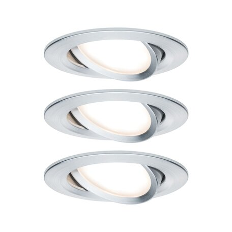Встраиваемый светодиодный светильник Paulmann Nova LED Coin 230V 93451, IP23, LED 6,5W, алюминий, металл