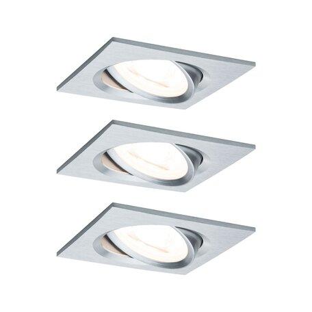 Встраиваемый светодиодный светильник Paulmann Nova LED Coin 230V 93456, IP23, LED 6,5W, алюминий, металл