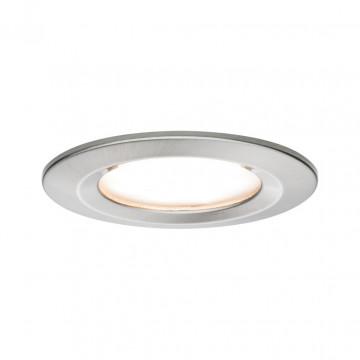 Встраиваемый светодиодный светильник Paulmann Nova LED Coin 230V 93457, IP44, LED 6,5W, матовый хром, металл