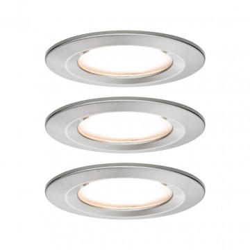 Встраиваемый светодиодный светильник Paulmann Nova LED Coin 230V 93458, IP44, LED 6,5W, матовый хром, металл
