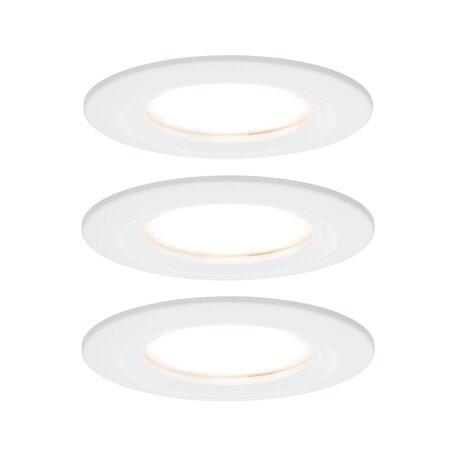 Встраиваемый светодиодный светильник Paulmann Nova LED Coin 230V 93460, IP44, LED 6,5W, белый, металл