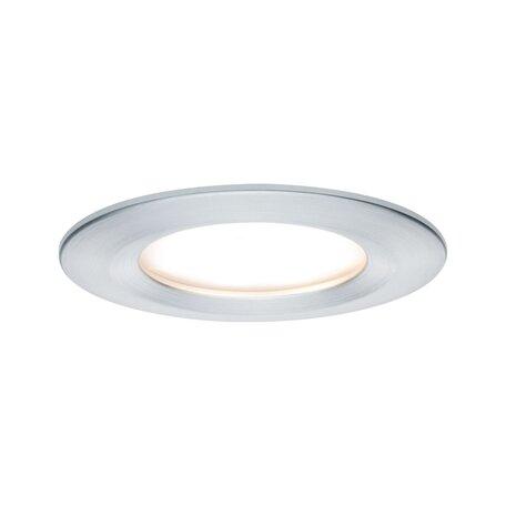 Встраиваемый светодиодный светильник Paulmann Nova LED Coin 230V 93461, IP44, LED 6,5W, алюминий, металл