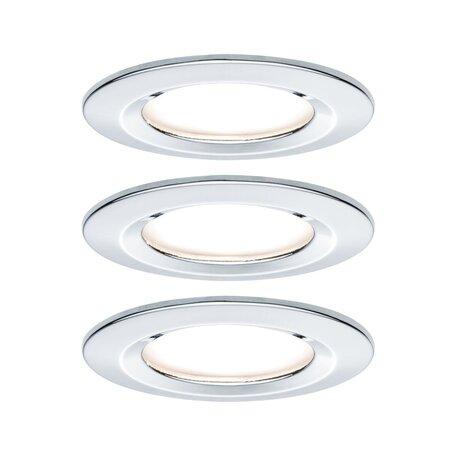Встраиваемый светодиодный светильник Paulmann Nova LED Coin 230V 93463, IP44, LED 6,5W, хром, металл