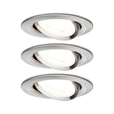 Встраиваемый светильник Paulmann Nova LED GU10 230V 93465, IP23, 1xGU10x6,5W, алюминий, металл