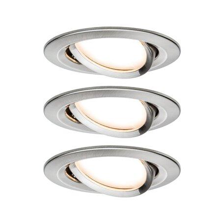 Встраиваемый светодиодный светильник Paulmann Nova LED Coin 230V step-dim 93483, IP23, LED 6,5W, алюминий, металл
