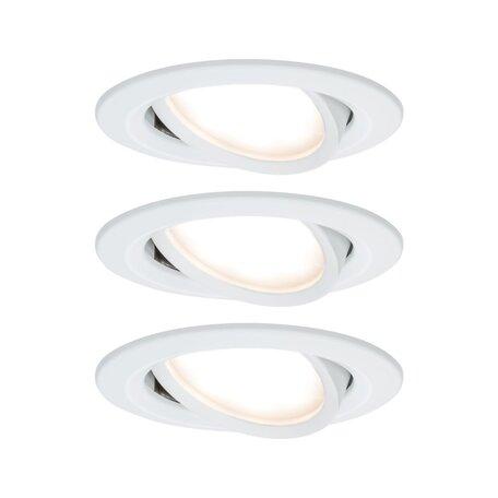 Встраиваемый светодиодный светильник Paulmann Nova LED Coin 230V step-dim 93485, IP23, LED 6,5W, белый, металл