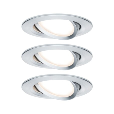 Встраиваемый светодиодный светильник Paulmann Nova LED Coin 230V step-dim 93487, IP23, LED 6,5W, алюминий, металл