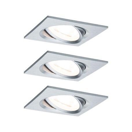 Встраиваемый светодиодный светильник Paulmann Nova LED Coin 230V step-dim 93492, IP23, LED 6,5W, алюминий, металл