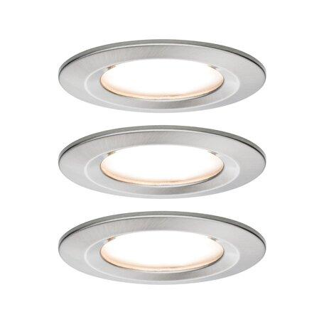 Встраиваемый светодиодный светильник Paulmann Nova LED Coin 230V step-dim 93494, IP44, LED 6,5W, матовый хром, металл