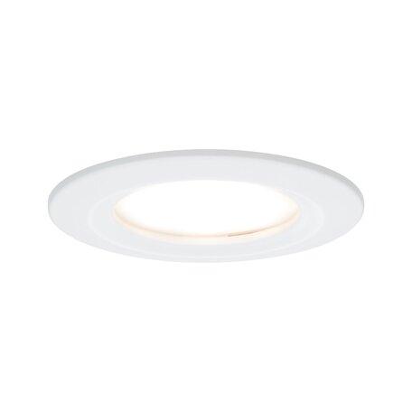 Встраиваемый светодиодный светильник Paulmann Nova LED Coin 230V step-dim 93495, IP44, LED 6,5W, белый, металл