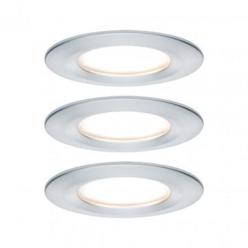 Встраиваемый светодиодный светильник Paulmann Nova LED Coin 230V step-dim 93498, IP44, LED 6,5W, алюминий, металл