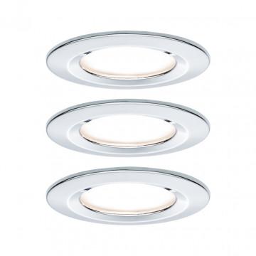 Встраиваемый светодиодный светильник Paulmann Nova LED Coin 230V step-dim 93499, IP44, LED 6,5W, хром, металл
