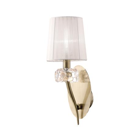 Бра Mantra Loewe 4735, бронза, прозрачный, белый, металл, стекло, текстиль