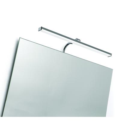 Настенный светильник Mantra Sisley 5085, IP44, матовый хром, белый, металл, пластик