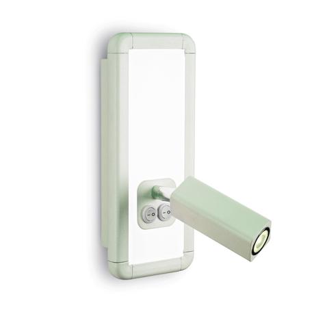 Настенный светильник с регулировкой направления света Mantra Ibiza 5257, белый, металл, пластик