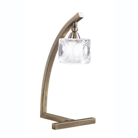 Настольная лампа Mantra Cuadrax 0994, бронза, металл, стекло