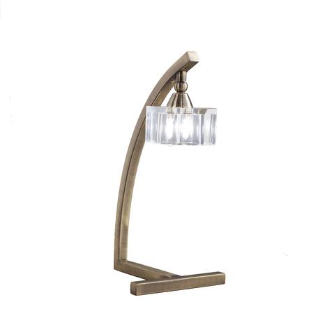 Настольная лампа Mantra Cuadrax 1104, бронза, металл, стекло