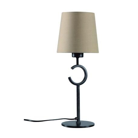 Настольная лампа Mantra Argi 5217, коричневый, бежевый, металл, текстиль