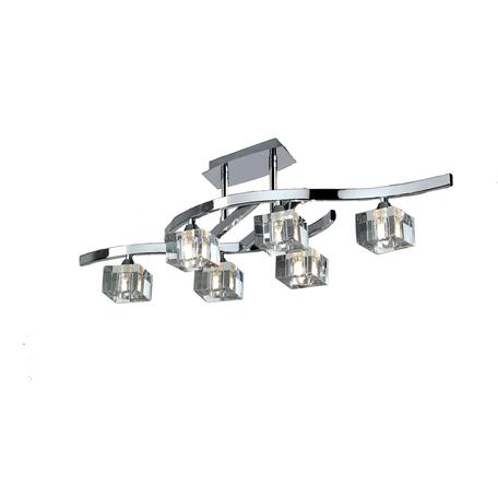 Потолочная люстра Mantra Cuadrax 0960, хром, прозрачный, металл, стекло