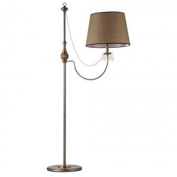 Торшер Crystal Lux BOMB PT 1250/601, 1xE27x75W, бронза, коричневый, прозрачный, металл, текстиль, стекло