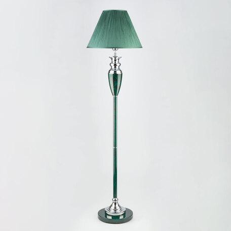 Торшер Eurosvet Majorka 009/1T GR (зеленый), 1xE27x60W, зеленый, металл со стеклом/пластиком, текстиль