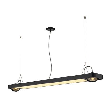 Подвесной светильник с регулировкой направления света SLV AIXLIGHT® R2 OFFICE 150 159140, 2xGU10x75W + LED 35W 4000K, черный