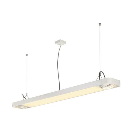 Подвесной светильник с регулировкой направления света SLV AIXLIGHT® R2 OFFICE 150 159141, 2xGU10x75W + LED 35W 4000K, белый