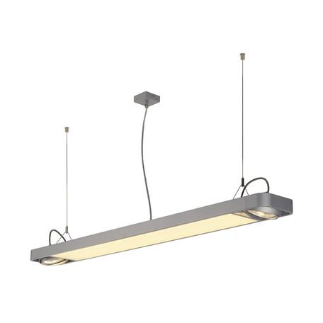Подвесной светильник с регулировкой направления света SLV AIXLIGHT® R2 OFFICE 150 159144, 2xGU10x75W + LED 35W 4000K, серый