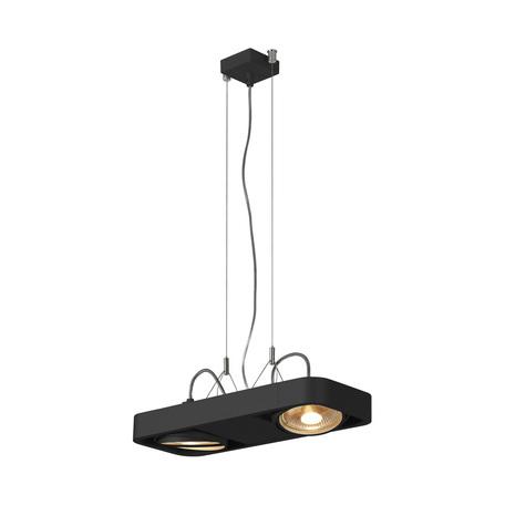 Подвесной светильник с регулировкой направления света SLV AIXLIGHT® R2 DUO QPAR111 159210, 2xGU10x75W, черный, металл