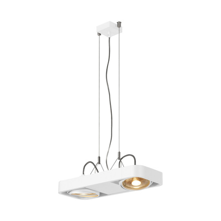 Подвесной светильник с регулировкой направления света SLV AIXLIGHT® R2 DUO QPAR111 159211, 2xGU10x75W, белый, металл