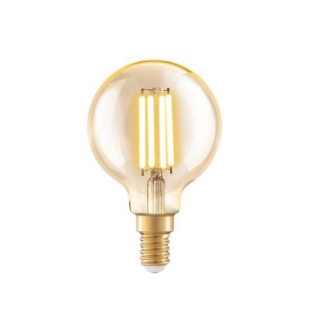 Филаментная светодиодная лампа Eglo 11782 шар E14 4W, 2200K (теплый) CRI>80 220V, гарантия 5 лет