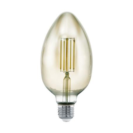 Филаментная светодиодная лампа Eglo 11839 E27 4W, 3000K (теплый) CRI>80, гарантия 5 лет