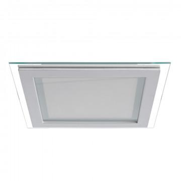 Светодиодная панель Arte Lamp Instyle Raggio A4018PL-1WH, LED 18W 3000K 1440lm CRI≥70, белый, металл со стеклом, стекло