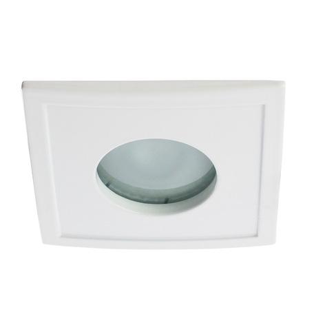 Встраиваемый светильник Arte Lamp Instyle Aqua A5444PL-1WH, IP44, 1xGU10x50W, белый, металл, стекло